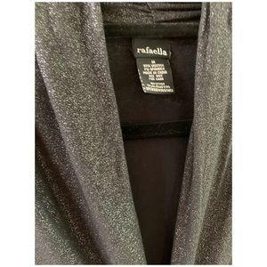 Rafaella Tops - Black light sparkle top.